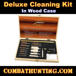 Deluxe Cleaning Kit in Wood Case