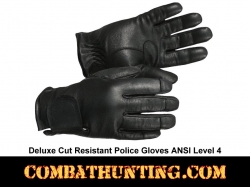 Police Deluxe Cut Resistant Police Gloves