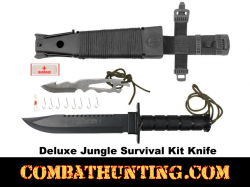 Deluxe Jungle Survival Knife Kit Black