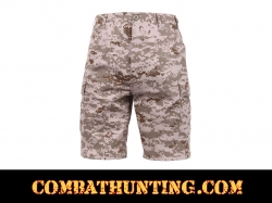 Desert Digital Camo BDU Military Shorts
