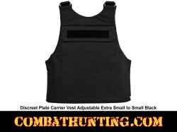 Discreet Plate Carrier Vest Adjustable Extra Small to Small Black