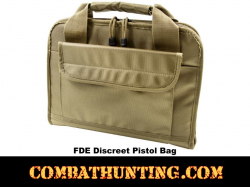 Discreet Pistol Range Bag Flat Dark Earth