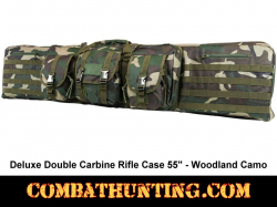 Double Tactical Rifle Case 55 Inches Woodland Camo