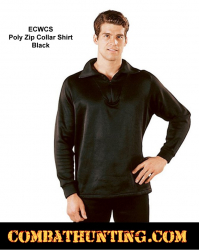 Rothco ECWCS Poly Zip Collar Shirt Top Black