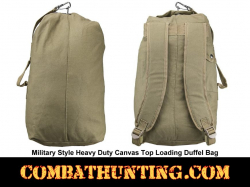 Small Heavy Duty Canvas Top Loading Duffel Bag Tan/FDE