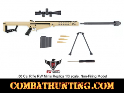 RW Minis 50 Cal Rifle FDE Replica 1/3 Scale