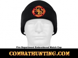 Fire Dept. Deluxe Embroidered Watch Cap