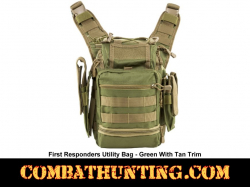Green With Tan Trim First Responders Utility Bag