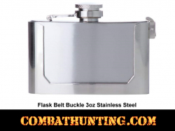 Belt Buckle Liquor Flask 3oz