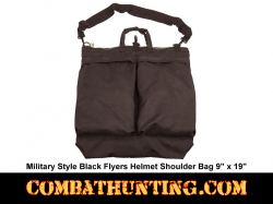 Black Military Style Flyers Helmet Shoulder Bag