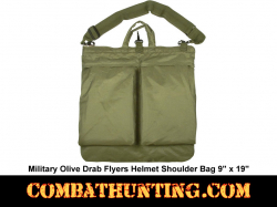 Olive Drab Military Style Flyers Helmet Shoulder Bag