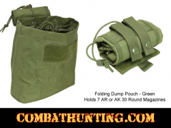 Folding Dump Pouch Military Green MOLLE Compatible