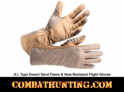G.I. Type Flame & Heat Resistant Flight Gloves Desert Sand