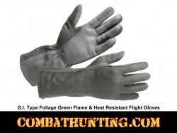 G.I. Type Flame & Heat Resistant Flight Gloves Foliage Green