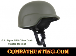 GI Style Abs Plastic Helmet Olive Drab Small/Medium