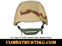 G.I. Type Tri-Color Desert Camo Helmet Cover