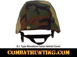 G.I. Type Woodland Camo Helmet Cover