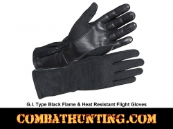 G.I. Type Flame & Heat Resistant Flight Gloves Black