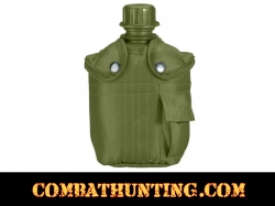 G. I. Type 1 Quart Olive Drab Plastic Canteen & Cover