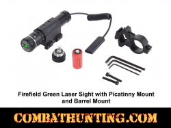Firefield Green Laser Sight with Picatinny Mount & Barrel Mount