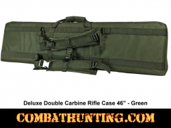 Double Tactical Rifle Case 46 Inches Military Green