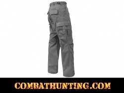 Grey Military BDU Fatigue Pants