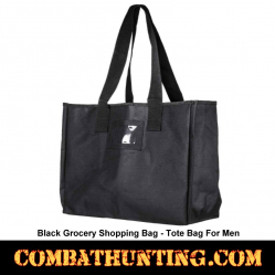 Black Grocery Shopping Bag-Tote Bag For Men
