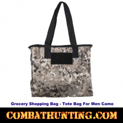Camo Grocery Shopping Bag-Tote Bag For Men