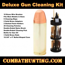 Deluxe Gun Cleaning Kit in Bullet-Shaped Case