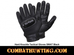 Hard Knuckle Tactical Gloves Swat Black
