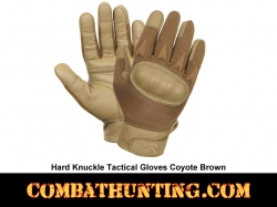 Coyote Brown Hard Knuckle Tactical Gloves