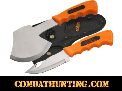 Hunter Gut Hook Knife With Hatchet Combo Set