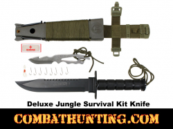 Deluxe Jungle Survival Knife Kit OD