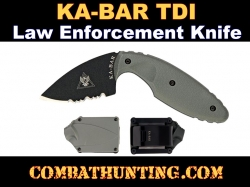 KA-BAR TDI Law Enforcement Knife Foliage Green