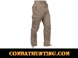 Khaki Vintage Paratrooper Fatigue Pants