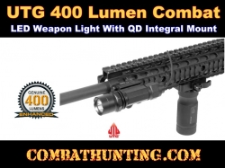"UTG 400 Lumen Combat LED Weapon Light 4.3"" Integral Mount"