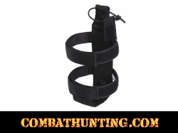 Lightweight MOLLE Bottle Carrier / Holder Black