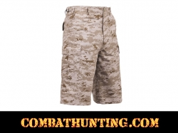 Rothco Long Length Desert Digital Camo BDU Shorts