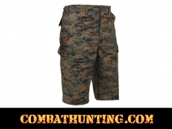 Rothco Long Length Woodland Digital Camo BDU Shorts