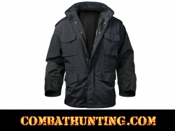Military M-65 Field Storm Jacket Black Nylon