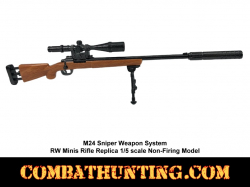 M24 Sniper Weapon System RW Minis Rifle Replica 1/5 scale Non-Firing Model