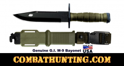 GI M9 Bayonet (Genuine Issue) Bayonet & Scabbard-OD