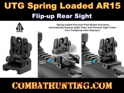 UTG ACCU-SYNC Spring-loaded AR15 Flip-up Rear Sight, Black