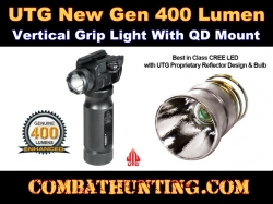 UTG New Gen 400 Lumen Vertical Grip Light with QD Mounting Base