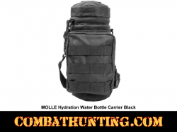 MOLLE Hydration Water Bottle Carrier Pouch Black