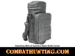 Urban Gray MOLLE Hydration Water Bottle Carrier Pouch
