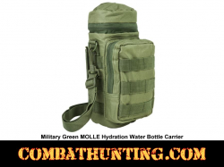 Green MOLLE Hydration Water Bottle Carrier Pouch