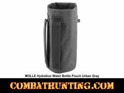 MOLLE Hydration Water Bottle Pouch Urban Gray