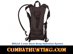 3 Liter Black Back Hydration Systems
