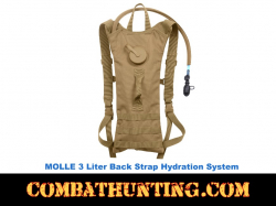 3 Liter Back Hydration Pack Molle Compatable
